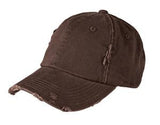 District Twill Hat Brown Custom Embroidered DT600