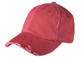 District Twill Hat Red Custom Embroidered DT600