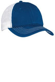 Custom Embroidered Royal and White Mesh Hat District DT607