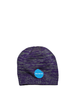 District Beanie Purple Charcoal Custom Embroidered DT620
