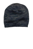 District Beanie Navy Charcoal Custom Embroidered DT620