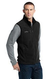 Eddie Bauer Fleece Vest Black Custom Embroidered EB204