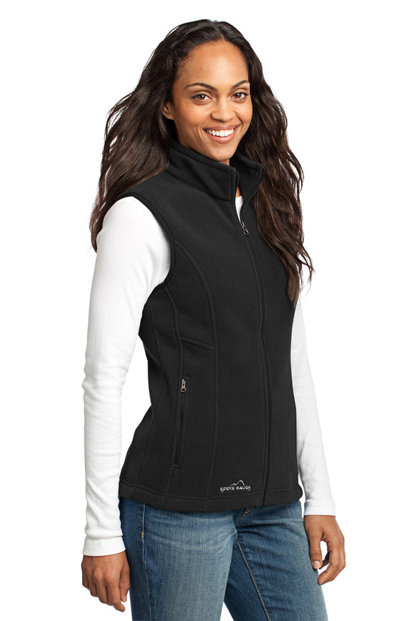 Eddie Bauer Ladies Fleece Vest Black Custom Embroidered EB205