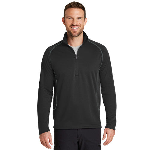 Eddie Bauer Half Zip Base Layer Fleece Custom Embroidered EB236 Black