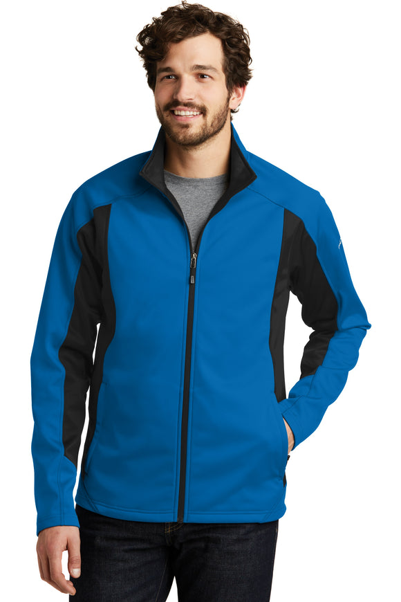 Eddie Bauer Soft Shell Jacket Expedition Blue Black  Custom Embroidered EB542