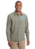 Daydream - Eddie Bauer® - Long Sleeve Performance Travel Custom Embroidered Shirt. (EB604)