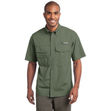 Eddie Bauer Short Sleeve Fishing Shirt Custom Embroidered EB608 Seagrass Green