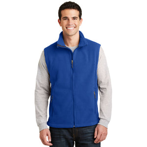 Port Authority Fleece Vest Royal Custom Embroidered F219