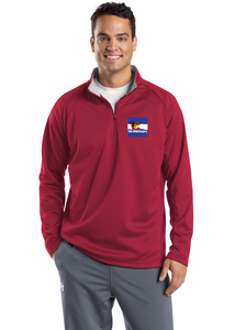 Sport Tek Quarter Zip Fleece Pullover Custom Embroidered F243 RED