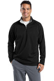 Sport Tek Quarter Zip Fleece Pullover Custom Embroidered F243 Black