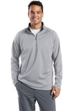 Sport Tek Quarter Zip Fleece Pullover Custom Embroidered F243 Silver