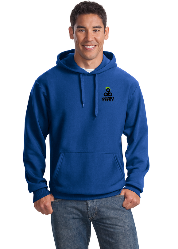Sport Tek Heavyweight pullover Sweatshirt Custom Embroidered F281 Royal Blue