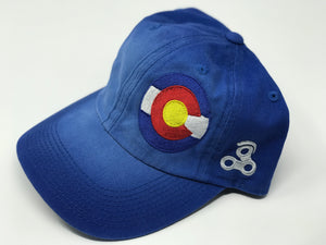 Colorado Embroidered Hat Circle Flag (C-811)