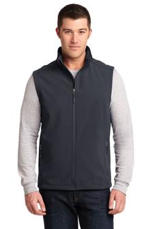 Port Authority Soft Shell Vest Charcoal Grey Custom Embroidered J325