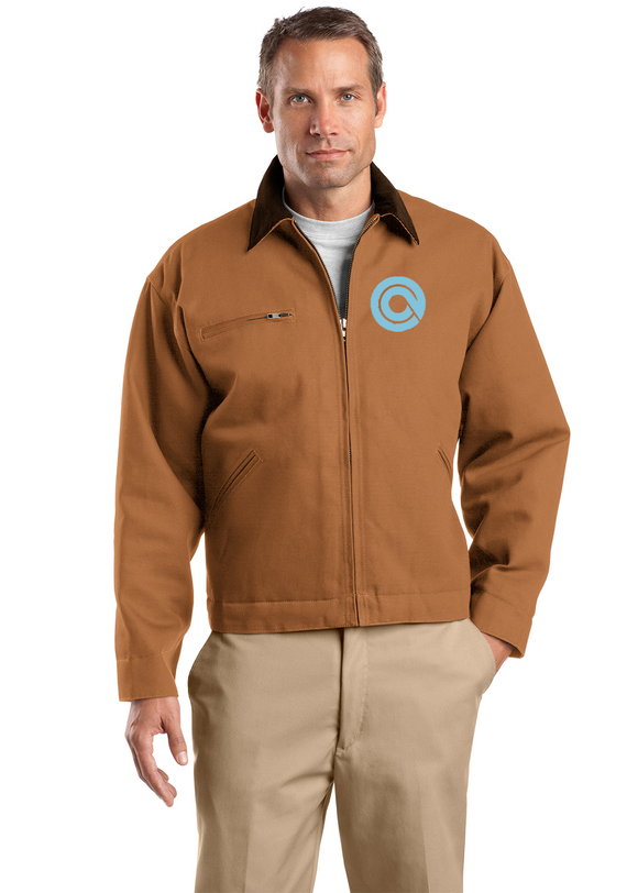 CornerStone Work Jacket Duck Brown Custom Embroidered J763