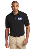 Port Authority Knit Polo Black Custom Embroidered K420