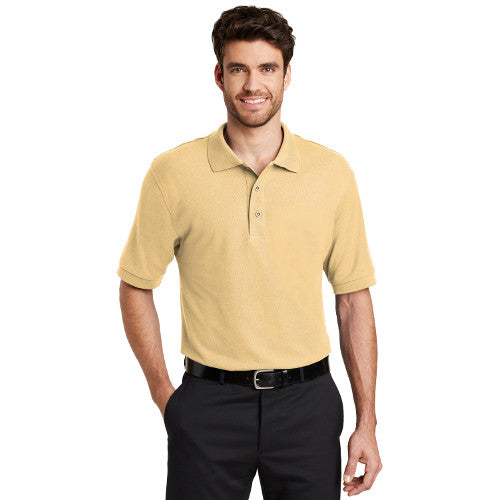 Port Authority Silk Polo Banana Custom Embroidered K500