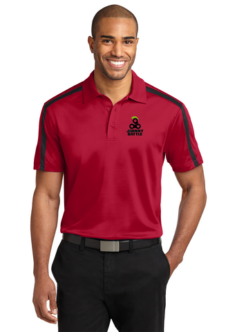 Rim Rock - Port Authority® Silk Touch™ Performance Colorblock Stripe Embroidered Polo Shirts. (K547)