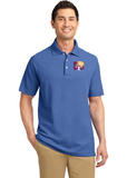 Port Authority Cotton Polo Midnight Blue Custom Embroidered K800