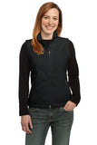 Port Authority Ladies Fleece Vest Black Custom Embroidered L219
