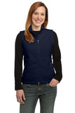 Port Authority Ladies Fleece Vest True Navy Custom Embroidered L219