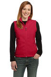 Port Authority Ladies Fleece Vest Red Custom Embroidered L219