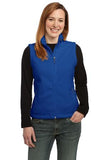 Port Authority Ladies Fleece Vest Royal Custom Embroidered L219