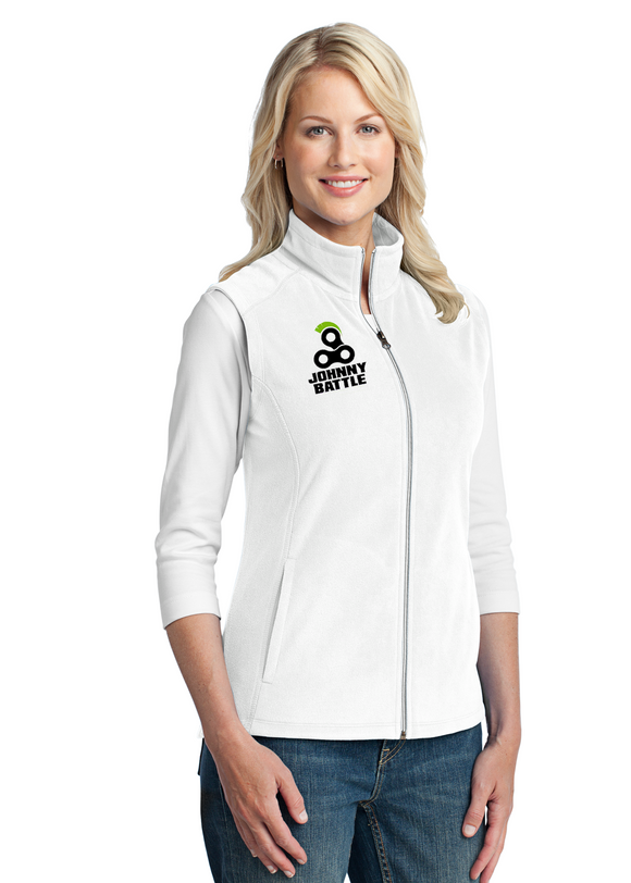 Port Authority Ladies Vest Custom Embroidered L226 White