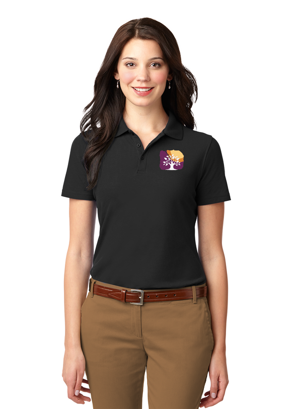 Port Authority Ladies Polo Black Custom Embroidered L510