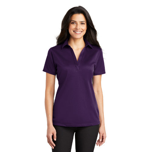 Port Authority Ladies Performance Polo Bright Purple Custom Embroidered L540
