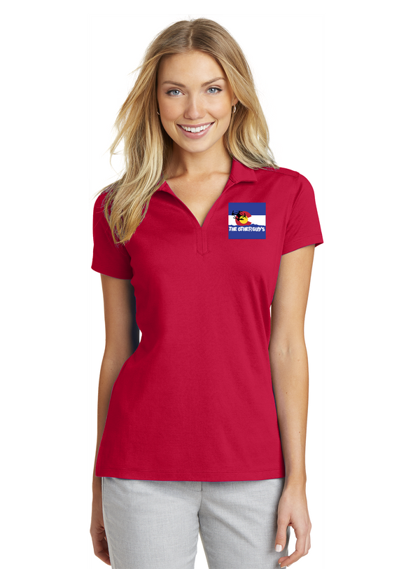 Port Authority Ladies Dry Mesh Polo Custom Embroidered L573 Red