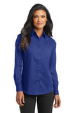 Port Authority Ladies Long Sleeve Button Up Blue Custom Embroidered L632
