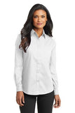 Port Authority Ladies Long Sleeve Button Up White Custom Embroidered L632
