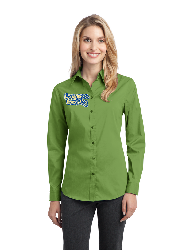 Port Authority Ladies Button Up Wintergreen Custom Embroidered L646