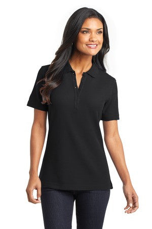 Black Port authority Custom Polo shirts