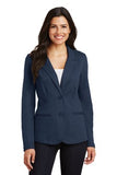 Port Authority Knit Blazer Navy Custom Embroidered LM2000