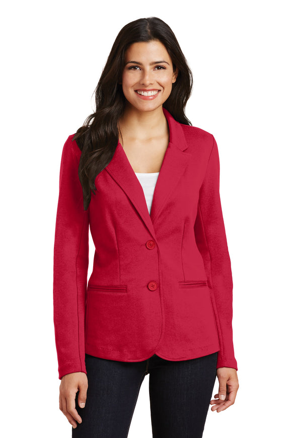 Port Authority Knit Blazer Red Custom Embroidered LM2000