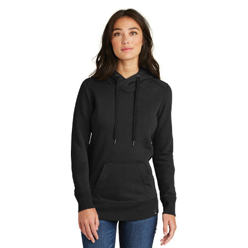 New Era Ladies French Terry Pullover Hoodie Custom Embroidered LNEA500 Black