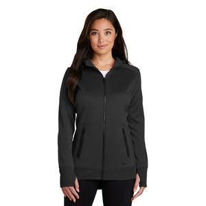 New Era Ladies Venue Fleece Full Zip Hoodie Custom Embroidered LNEA522 Black