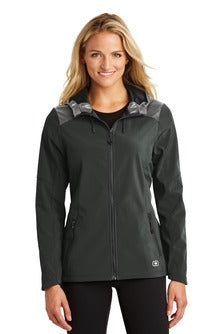 OGIO Ladies Endurance Liquid Jacket Custom Embroidered LOE723 Blacktop