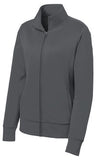 Sport Tek Ladies Full Fleece Jacket Dark SMoke Custom Embroidered LST241