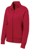 Sport Tek Ladies Full Fleece Jacket Red Custom Embroidered LST241