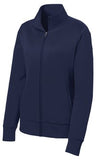 Sport Tek Ladies Full Fleece Jacket Navy Custom Embroidered LST241