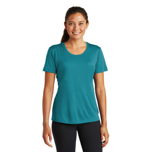 Sport Tek Ladies T Shirt Tropic Blue Custom Embroidered LST350