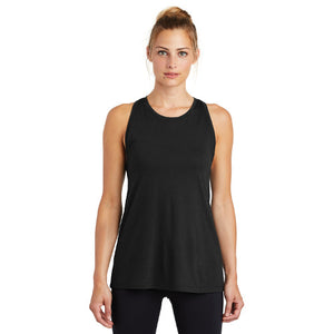 Sport Tek Ladies PosiCharge Tri Blend Wicking Tank Custom Embroidered LST402 Black