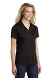 Sport Tek Ladies Polo Black Custom Embroidered LST550