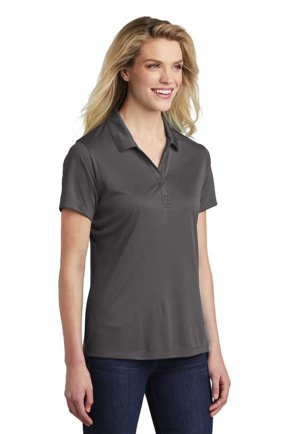 Sport Tek Ladies Polo iron grey Custom Embroidered LST550