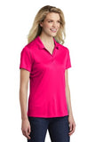 Sport Tek Ladies Polo Pink Raspberry Custom Embroidered LST550