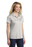 Sport Tek Ladies Polo Silver Custom Embroidered LST550