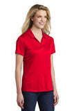 Sport Tek Ladies Polo Red Custom Embroidered LST550